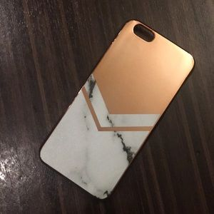 Rose gold marble iPhone 6 case